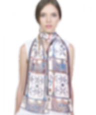 Silk-chiffon scarf Berat Codex