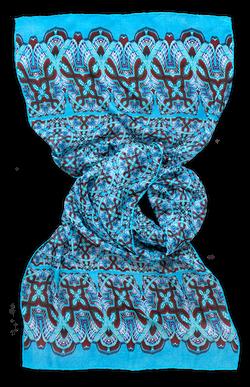 Silk chiffon scarf Sigma