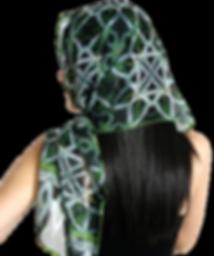 Silk chiffon scarf Spider Lily