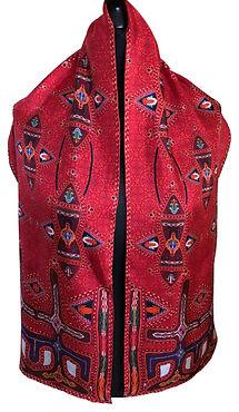 Mirdita-Red-luxury-long-silk-scarf-by-tr