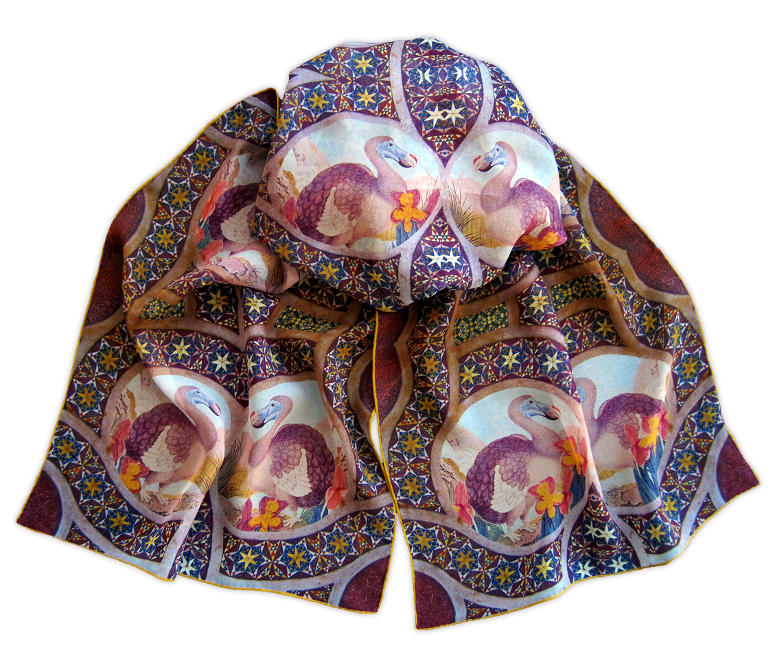Silk chiffon scarf Dodo Palermo