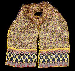 Silk chiffon scarf Leaves