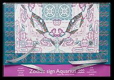 Gift package for silk-chiffon scarf Aquarius