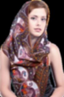 Silk-chiffon scarf Dodo Palermo