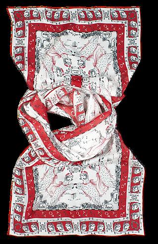 silk chiffon scarf Aries
