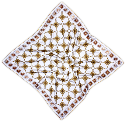 Silk satin scarf Eiffel Gold