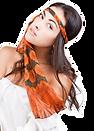 Silk chiffon scarf Glory of Versailles