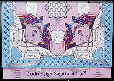 Gift package for silk-chiffon scarf Sagittarius