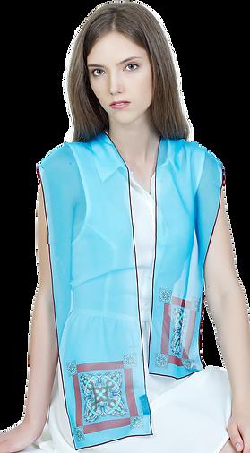 Long silk chiffon scarf Sigma Ends