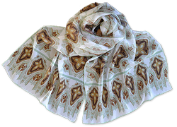 Silk chiffon scarf Eiffel