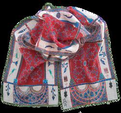 Silk chiffon scarf Berat Codex Red