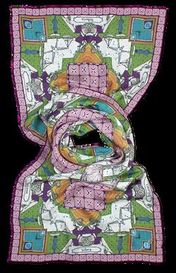 Silk chiffon scarf Libra