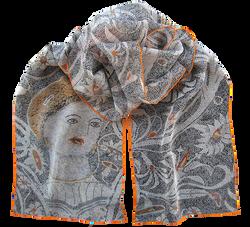 Silk chiffon scarf Beauty of Durres