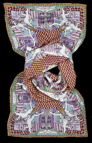 silk chiffon scarf Virgo