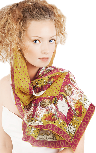 silk chiffon scarf Leo