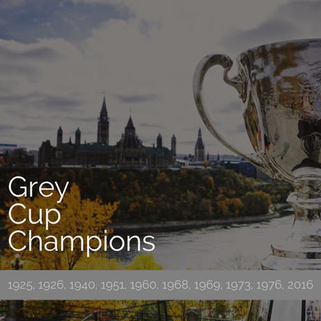 Grey Cup Champions 1925,1926,1940,1951,1960,1968,1969,1973,
