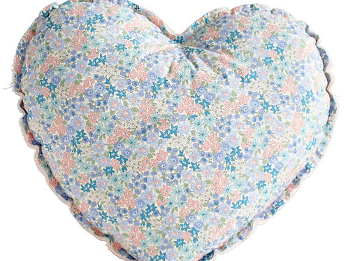 Liberty Blue Heart Cushion