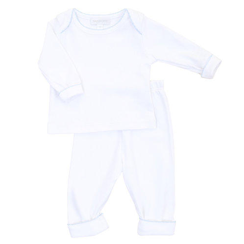 Essentials White & Blue 2pz Loungewear