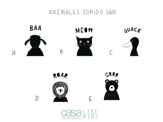 Animales Sonido B&N