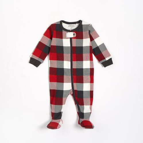 Red Baby Sleeper Knit