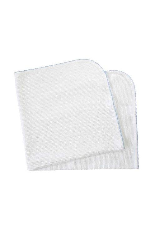 White Bubble Blanket Blue