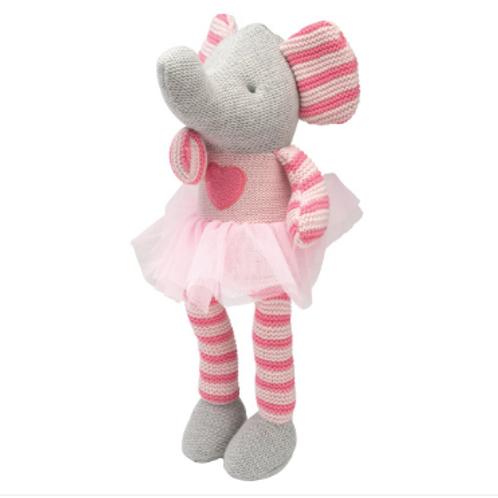 Pink Elephant Knit Toy 35 cm