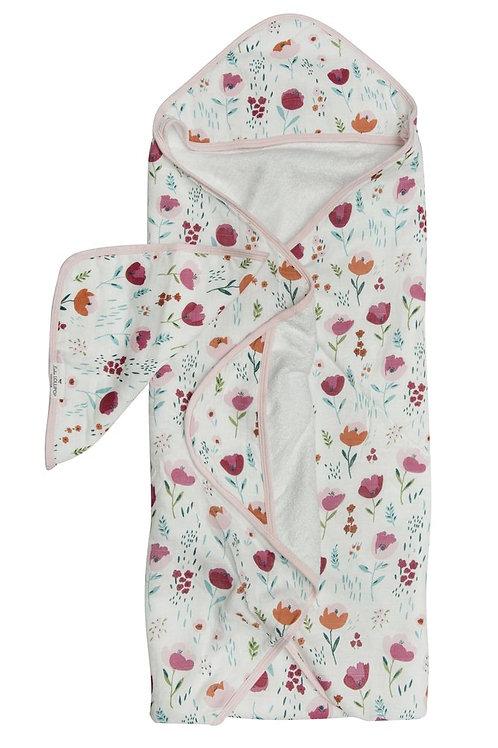 Rosey Bloom Hooded Towel Set