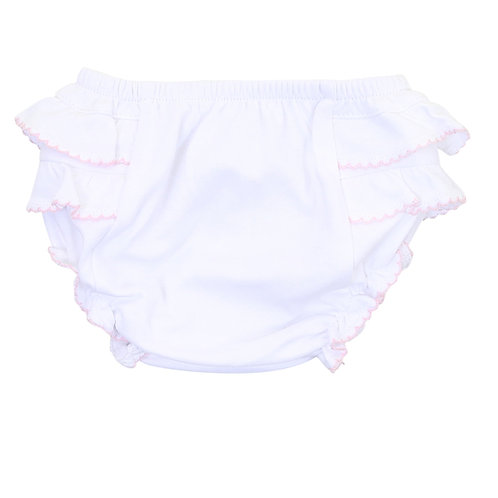 Essentials Diaper Cover White Pink