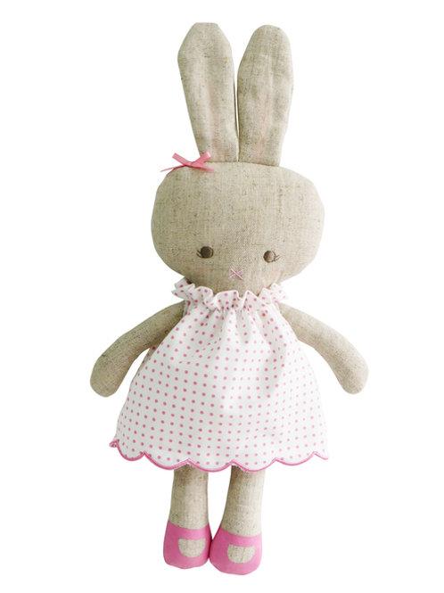 Hannah Pink Spot Linen Bunny
