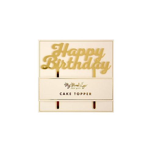 Happy Birthday Basic Cake Topper