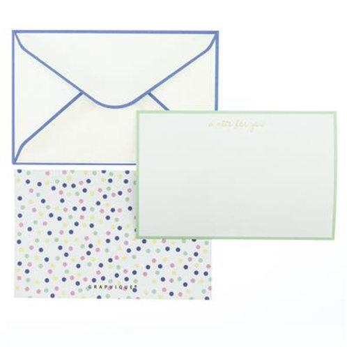 Pastel Dot Flat Notes