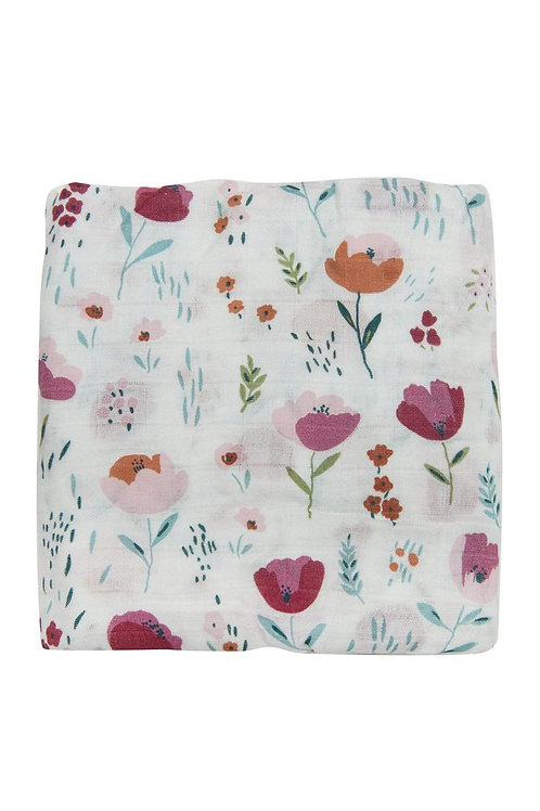 Rosey Bloom Muslin Swaddle