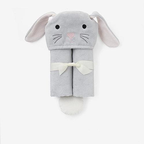 Gray Bunny Bath Wrap