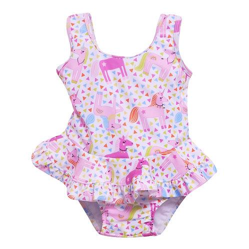 Unicorn Ruffle Swimsuit