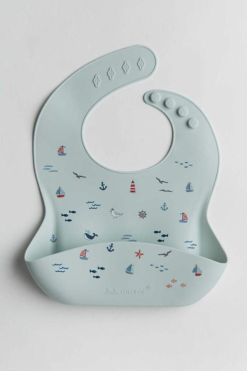 Set Sail Printed Silicone Bib
