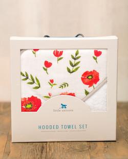 HOODED TOWEL SET - SUMMER POPPY 1