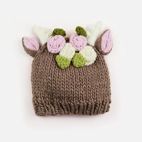Hartley Deer Hat w/ Flowers