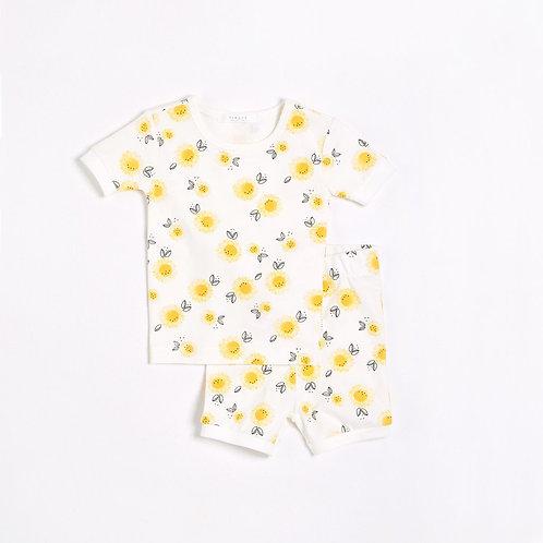 Sunflowers Sleep Set with Organic Cotton (2 pcs.)