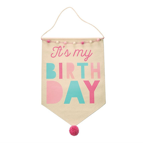 Girl Birthday Canvas Banner