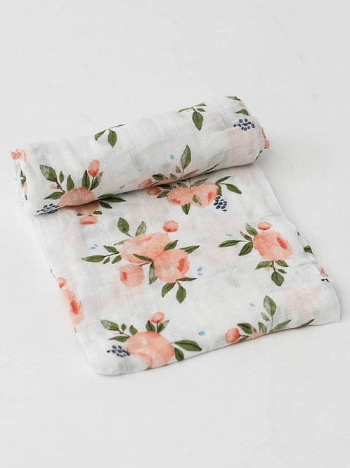 Watercolor Roses Swaddle