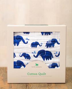 COTTON MUSLIN QUILT - INDIE ELEPHANT 1