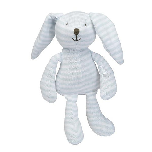 Blue Stripe Bunny 25cm