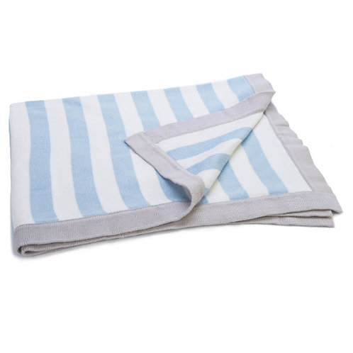Mimmo Striped Knitted Blanket