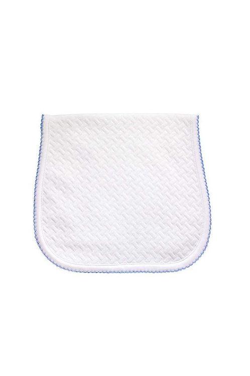 Blue Basket Weave Burp Cloth