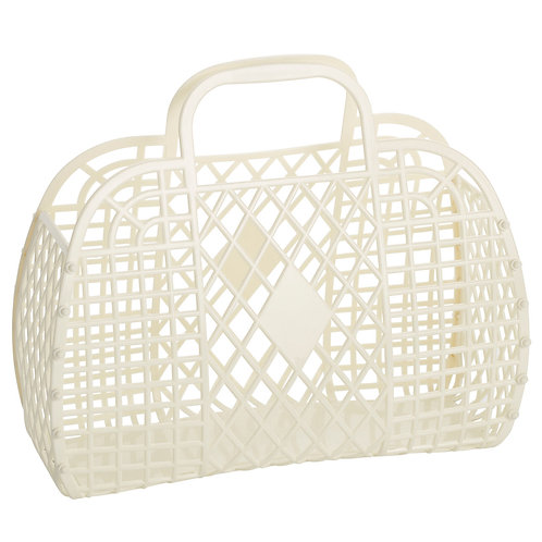 Cream Large Retro Basket