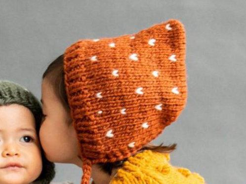 Mustard Fairisle Bonnet