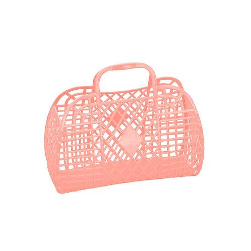 Peach Small Retro Basket