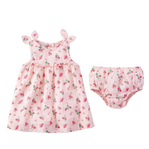 Tiny Rose Muslin Dress