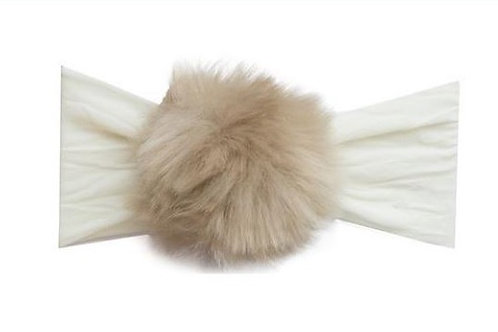 Rabbit Fur Pom Headband