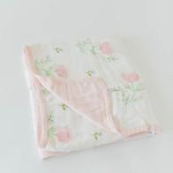 Pink Peony Deluxe Muslin Quilt